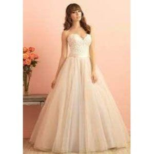 Allure Romance Champagne Wedding Ball Gown